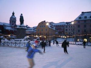 Skating in Kungsträdgården